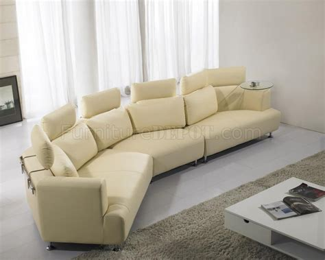 cream sectionals cream full leather wave shape modern sectional sofa