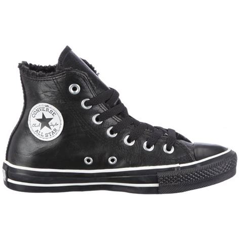 Converse All Black Unisex converse converse ct leather hi black 118802 b1 unisex
