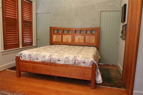 Handmade Bedroom Furniture - made tollet cherry bed by white wind woodworking