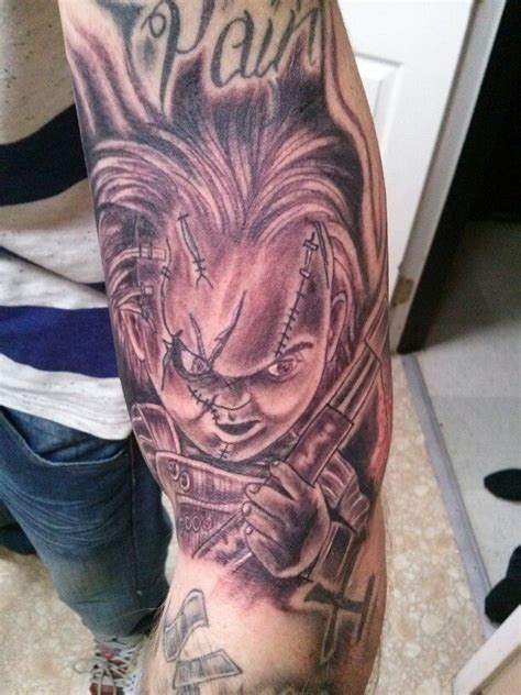 chucky tattoo my chucky obsession pinterest tattoos