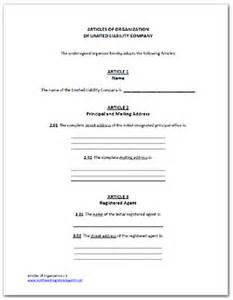 sle operating agreement template articles of organization arizona llc template