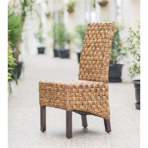 Abaca Dining Chairs with Woven Abaca Dining Chair Set Of 2 Sg 3309 2ch