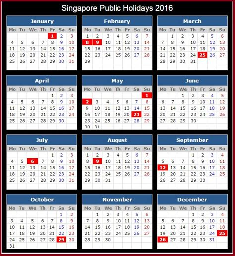 Calendar 2018 Singapore With Holidays 17 Best Images About Holidays Calendar On