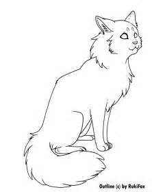 cat drawing template longhair cat template by rukifox on deviantart
