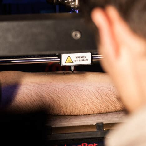 3d printer tattoo video french designers hack a 3d printer to make a tattooing
