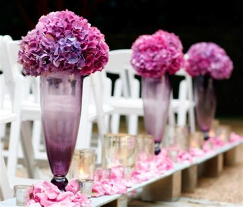 purple lavender hot pink aisle decorations Archives