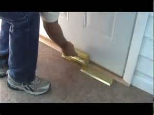 Locking French Doors - nightlock easy to install video for home security door brace barricade youtube