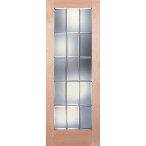 15 Lite Interior Door Feather River Doors 36 In X 80 In 15 Lite Unfinished Maple Clear Bevel Zinc Woodgrain Interior