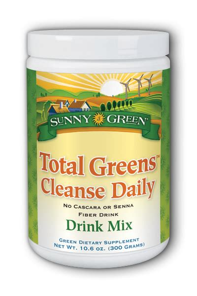 Fiber Detox Drink by Total Greens Cleanse Daily Fiber Drink 300g 10 6oz 0