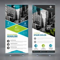 banner stand design templates roll up template design vector free