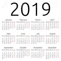 Calendar 2019 Printable Yearly Calendar 2019 2018 Calendar Printable