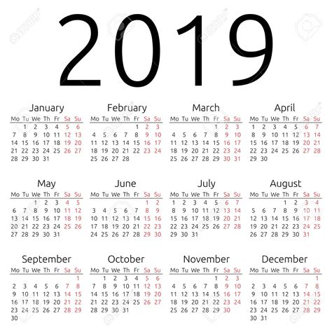 printable yearly calendar 2019 yearly calendar 2019 2018 calendar printable