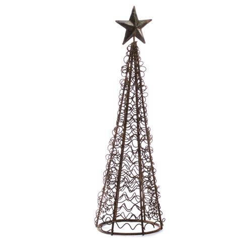 rusty wire christmas tree table decor christmas and