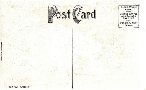 printable postcard back free prinrable antique postcards the back sides