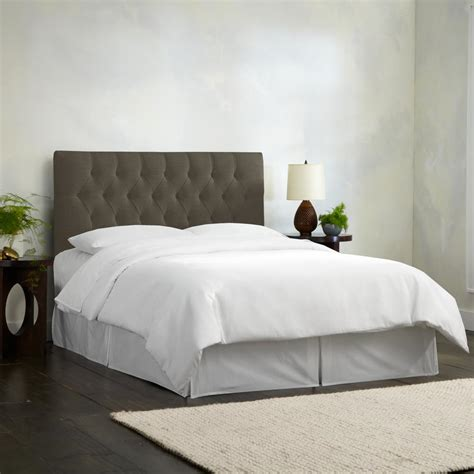 linen tufted headboard skyline furniture california king nail button tufted