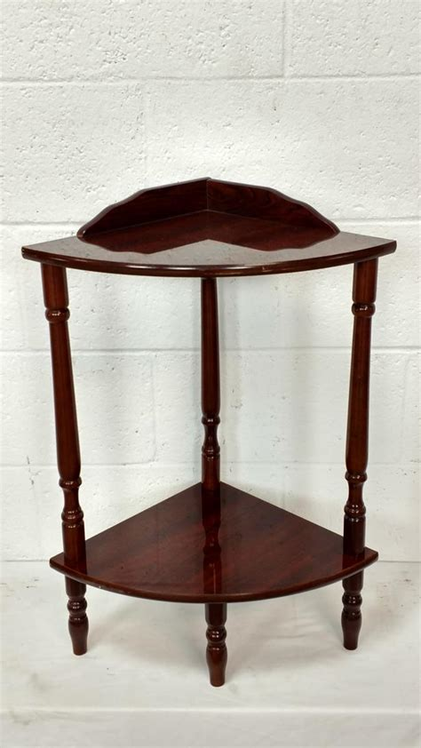 Corner Accent Table Wooden Corner Accent Table