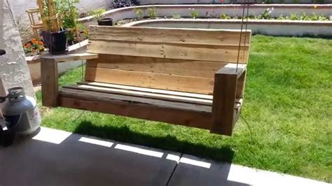 how to make pallet swing porch swing made from old pallet wood youtube