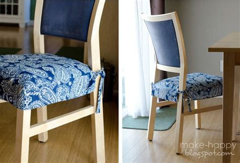 Diy Dining Chair Seat Covers Diy Seat Cushion Covers For The Home