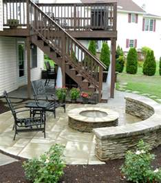 Under Deck Patio Ideas by Patio Under Deck With Separate Firepit Patio