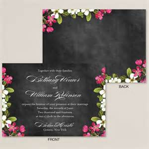 floral garden chalkboard wedding invitation