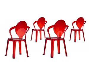 chaises design transparentes
