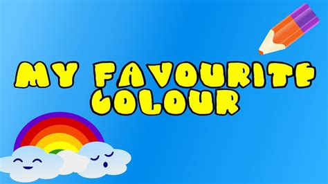 what s my favorite color children s color song learn all the colors my
