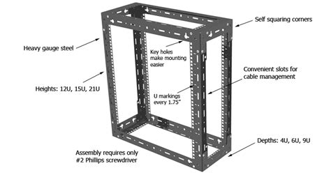 Server Rack Dimensions by Wall Mount Server Rack Racksolutions