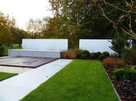 witte thee tuinen pin moderne terras tuin green art tuinen tuinontwerp