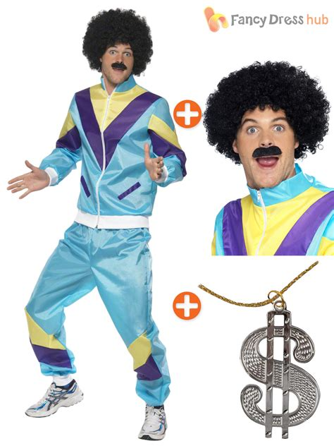 90s fancy dress costumes ebay retro funny 80s 90s shell suit tracksuit shellsuit mens