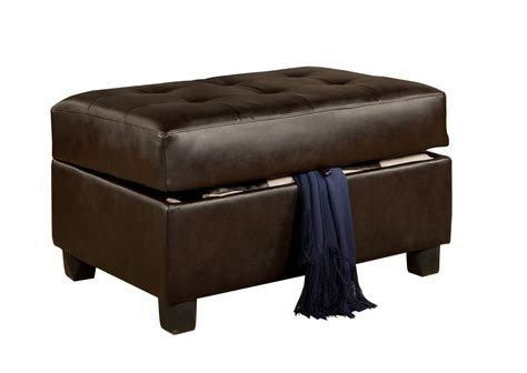 Black Leather Bench 36 Top Brown Leather Ottoman Coffee Tables