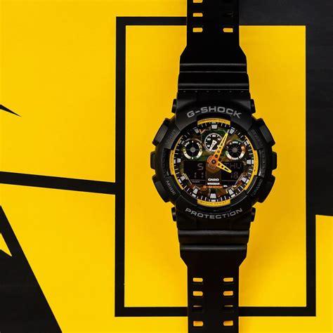 G Shock Ga 110 Black Yellow g shock ga 100by 1a black and yellow series