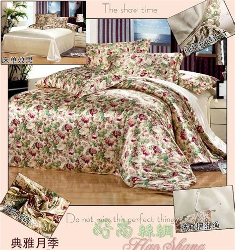 bed comforter sets full size mulberry silk beige floral bedding comforter set king