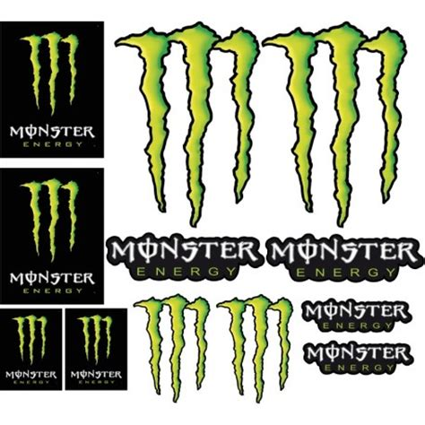 Monster Energy Sticker Auto by Stickers Monster Energy Autocollants Monster Energy