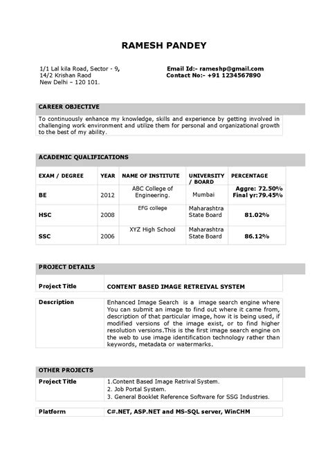 sle resume for teachers with experience 100 original resume format for fresher teachers india