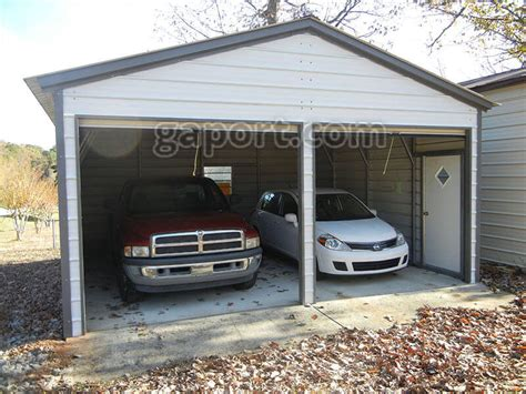 2 car garages metal garage two car 2