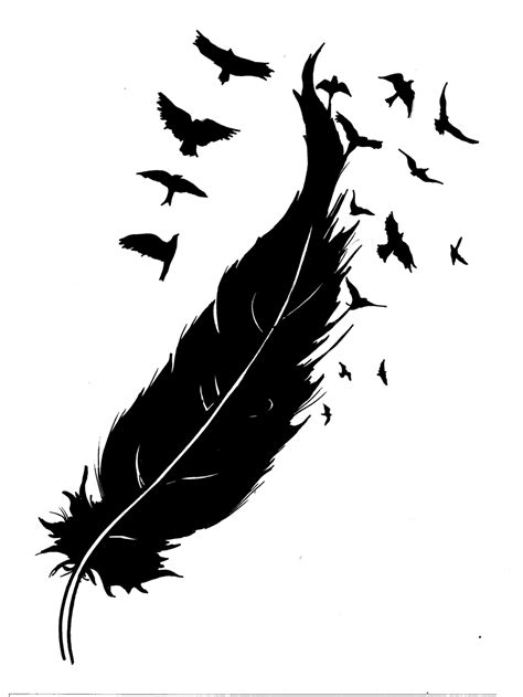 tattoo feather sketch feather into birds google s 248 gning feathers pinterest