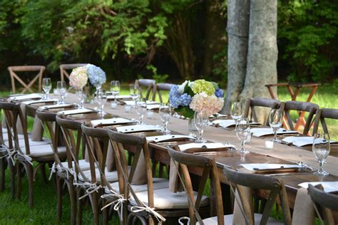 backyard events farm table decor delightful details