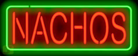 nachos neon sign fe   jantec neon