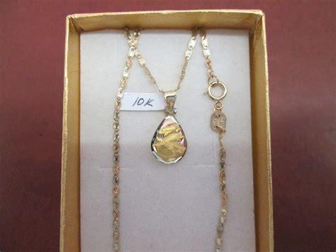 cadenas de oro florentino para hombre cadena y medalla de bautizo ni 241 o oro de 10 kilates