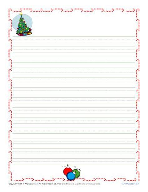 printable christmas paper with lines christmas writing paper for kids free printable template