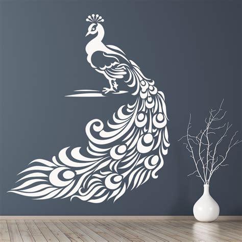 peacock wall stickers bird wall art