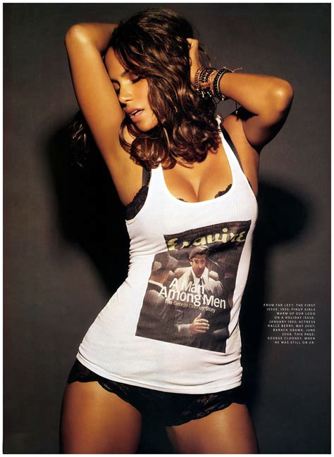 Halle Berry Named Sexiest For 2008 by Halle Berry Esquire Magazine 2008 Halle Berry Photo