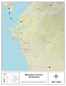 manatee county florida map sinkholes of manatee county florida 2008