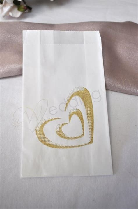 Hochzeitstorte Koffer by Wedding Cake Bags Simple Gold Hearts 25 Bags Wedding