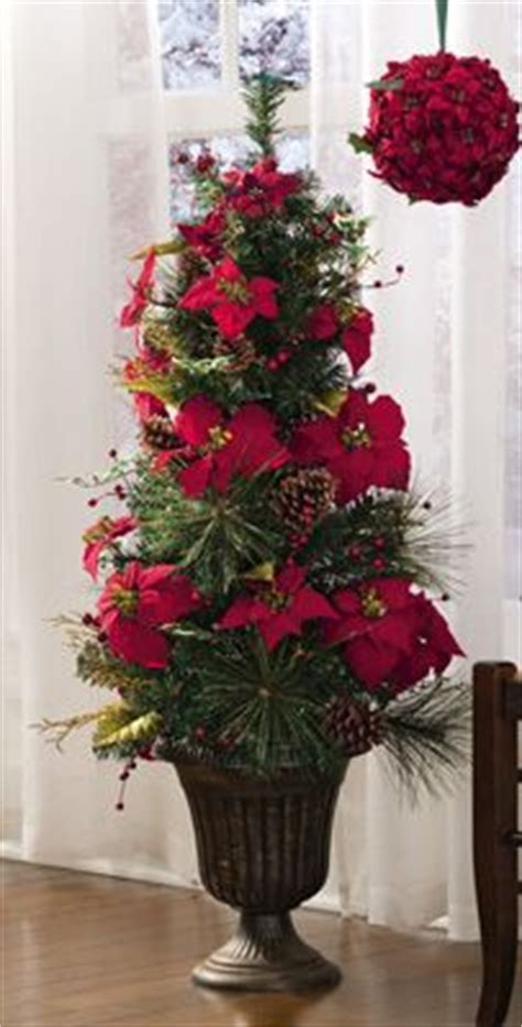 poinsettia topiary tree lighted poinsettia floral topiary indoor