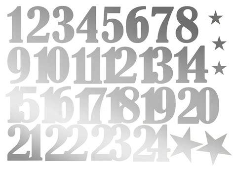 Zahlen Sticker Weihnachten by Zahlen Aufkleber F 252 R Adventskalender Matt Silber