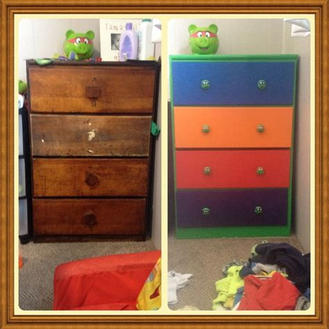 Upcycled This Old Dresser Into A Teenage Mutant Ninja Turtle Bedroom Furniture