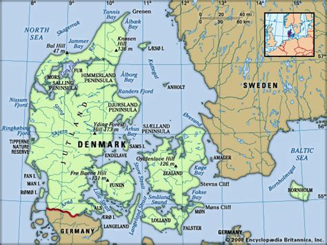 physical map of denmark denmark history geography culture britannica