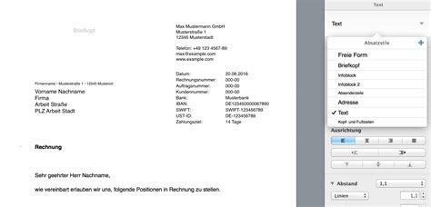 Vorlage Rechnung Zahlungsziel Pages Vorlage Rechnung Numbersvorlagen De
