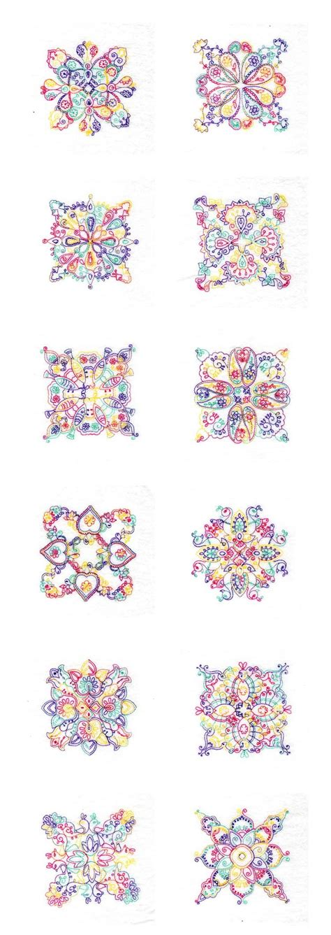Quilt Block Embroidery Designs by Paisley Quilt Blocks Machine Embroidery Designs Ebay